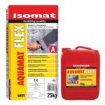 ISOMAT AQUAMAT-FLEX, MATERIAL HIDROIZOLANT PENTRU SUBSOLURI SI BAZINE, Grey 33 kg