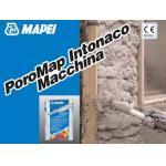 POROMAP INTONACO MACHINA 20KG Mortar predozat pentru realizarea tencuielilor dezumidifiante aplicate pe zidariilor din piatra caramida sau tuf cu aplicare mecanizata